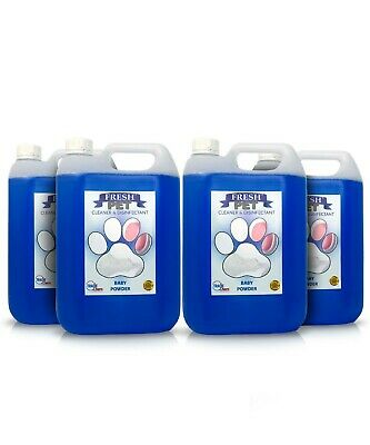 Fresh Pet  Disinfectant And Cleaner - Animal Safe 4 X 5L Baby Powder - Prefilled