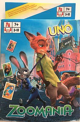 Zootopia UNO Game Card Collection Cards Aus Stock