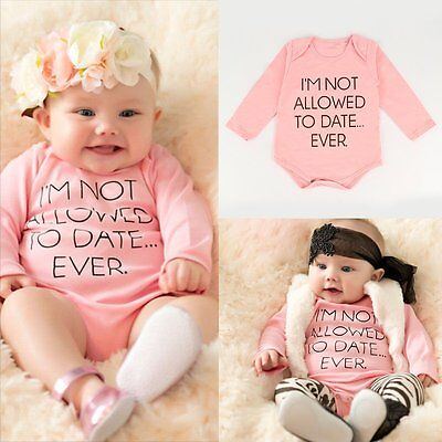 Newborn Kids Baby Girls Long Sleeve Romper Jumpsuit Bodysuit Clothes Outfits Set
