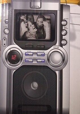 Popstarz GK391 Stand Alone CD Karaoke Machine Built In Display And Video Camera