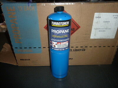 Case of 12 Turbotorch Propane Disposable Fuel Cylinder 14.1 oz Turbo Torch