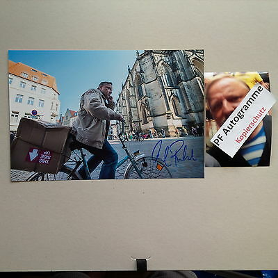 AXEL PRAHL TATORT MÜNSTER IN-PERSON signed 20x30 Autogramm