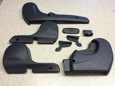 1992 Mitsubishi 3000gt Vr4 Power Front Seat Rail Trim Left Right Charcoal Gray