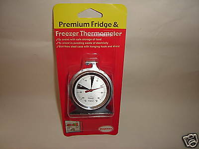 New Brannan Fridge Freezer Thermometer Temperature Gauge Round Metal