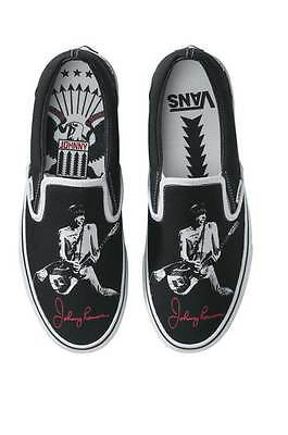 JOHNNY RAMONE VANS Mens Sz 10 Slip On THE RAMONES  New in Box