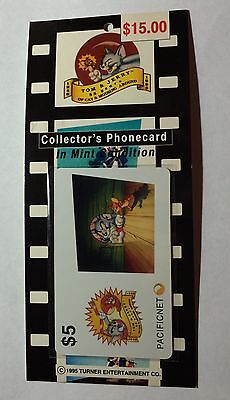 1995 Tom and Jerry Collector's Phone Card (Pacificnet)