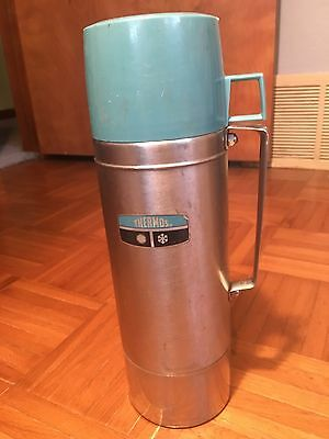 Vintage Thermos King-Seeley Vacuum Bottle Quart Size Model 2464H Awesome