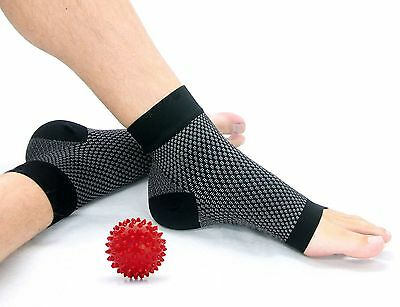 Plantar Fasciitis Socks - Ankle/Arch Compression Foot Sleeves - 1 Pair