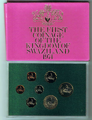 1974 Swaziland - Official Proof Set (7) - Royal Mint - Beauty!