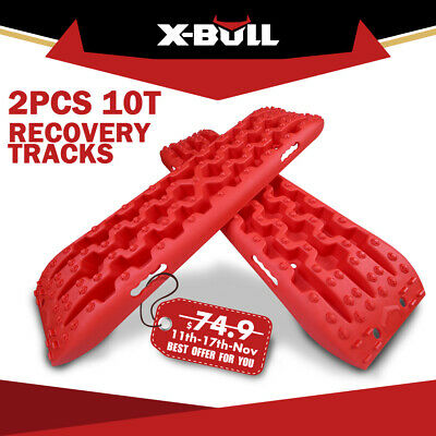 X-BULL New Recovery Tracks Sand Mud Snow Orange Tracks/Trax 4X4 ATV CAR Offroad