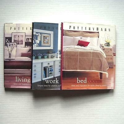 Pottery Barn Design Library Lot of 3 Books Living Rooms Bedrooms Work Spaces HC
