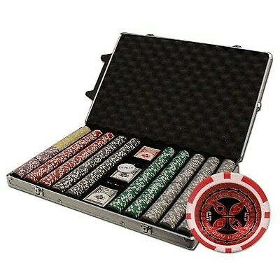 Brybelly XCSUP-1000R 1000 Count Ultimate Poker Chip Set in Rolling Aluminum C...