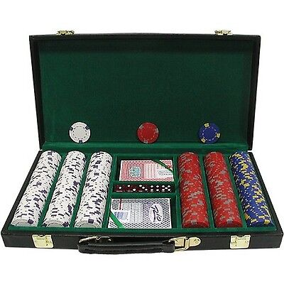 Trademark Poker 300 Chip Pro Clay Casino Chips with Deluxe Case Black 13gm