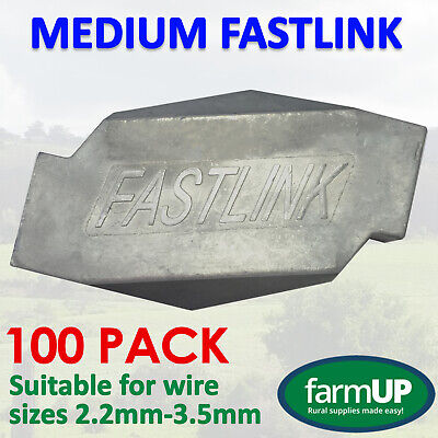 100x FASTLINK MEDIUM - Fence Wire Joiner Repair - Works with gripple® tensioning