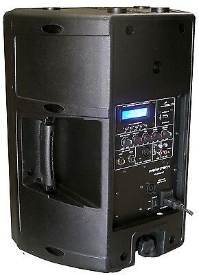 """New 1x 10"""" 240W Professional PA/DJ Powered Moulded Speaker With USB/SD Player"""