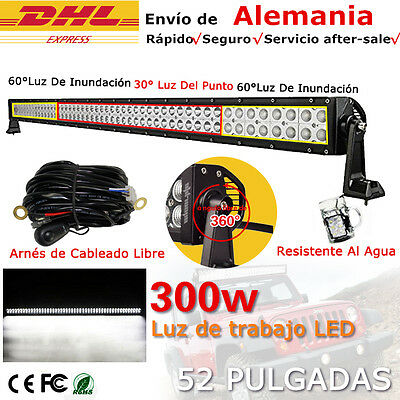 "52"" 300W LED barra de luz trabajo Spot Flood Combo FOCO 12V 24V Light Bar camión"