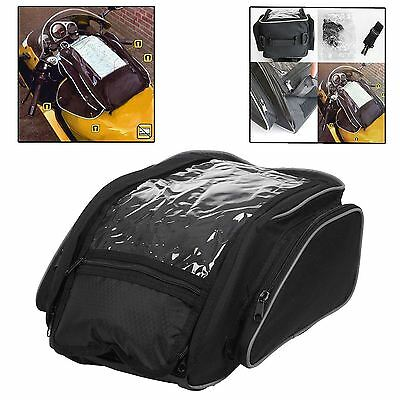 Large Magnetic Motorcycle Tank Bag With Map Window Carry Handle Strap