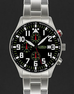 ASTROAVIA XL AIR CRAFT 22E NEW EDITION 6 ZEIGER CHRONOGRAPH 44mm FLIEGERUHR N53S
