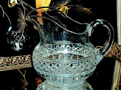 Collectable Antique Pressed Glass Eapg Water / Lemonade Pitcher C 1900's