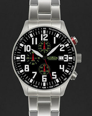 ASTROAVIA XL AIR CRAFT 21E NEW EDITION 6 ZEIGER CHRONOGRAPH 44mm FLIEGERUHR N55S