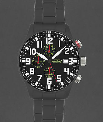 ASTROAVIA XL AIR CRAFT 23E NEW EDITION 6 ZEIGER CHRONOGRAPH 44mm FLIEGERUHR N55B