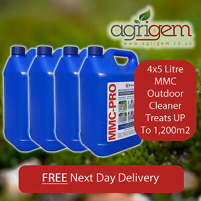 4X5L Mmc Pro Moss Killer Hard Surface Cleaner Clear Algae Driveway Patio Last Up