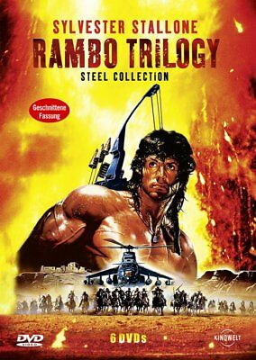 Rambo Trilogy - Sylvester Stallone - Steel Collection - 6 DVD - FSK 18