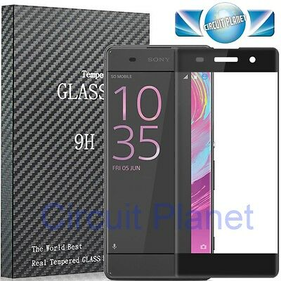 Full Cover Curved 3D Tempered Glass Screen Protector For Sony Xperia Xa Black