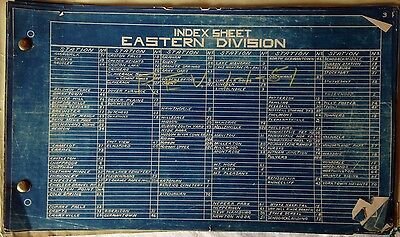 "Original 1950 New York Railroad Eastern Division Blueprints Lot Of 7 8""x13"""