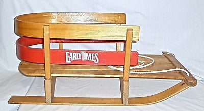 EARLY TIMES Holiday SNOWSLED Liquor Store Adv Promo Display Christmas Decor