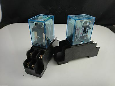 1/5/10 sets 12/24/110/220V Relay MY4NJ 14 Pin 5A With LED + PYF14A Socket Base