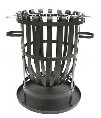 Pagoda Fire Basket With Grill Steel frame and Ash collection tray Outdoor Access