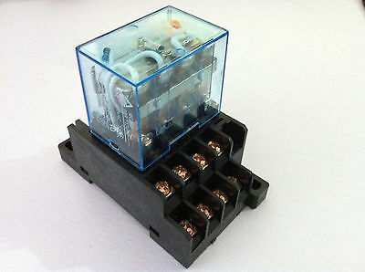 1/5 Sets 12/24/110/220V Relay LY4NJ 14 Pin 10A With LED + PTF14A Socket Base