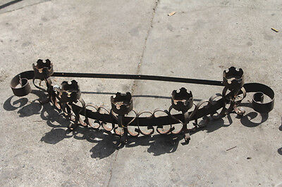 """Wrought Iron Wall Candle SCONCE Curved 43""""W x 9""""H"""