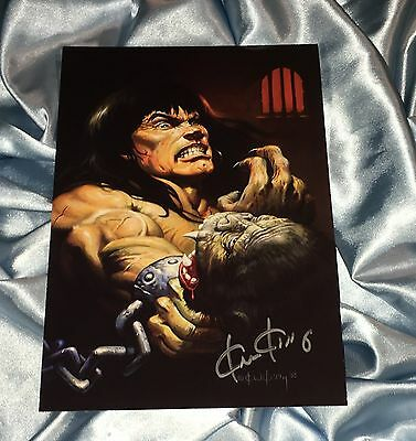 CONAN THE BARBARIAN~FPG COLOSSAL CARD SIGNED BY KEN KELLY #11~FELINE WARRIORS~~