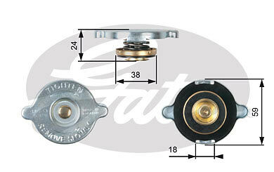 FORD CAPRI Radiator Cap 1.6,2.0,3.0 70 to 87 RC112 Rad Pressure Gates 1474439