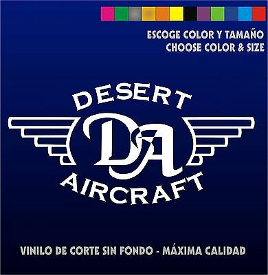 Pegatina - Desert Aircraft - Sticker - Car Decal - Aufkleber - Vinilo - Vinyl