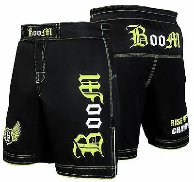 BOOM Prime Green Muay Thai Boxing Grappling Fighting MMA Shorts Cage Fight Gear