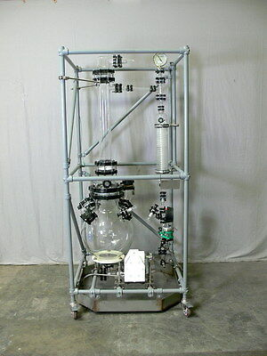 Sentinel Process Systems 50 Liter Glass Reactor, Short Distillation Skid