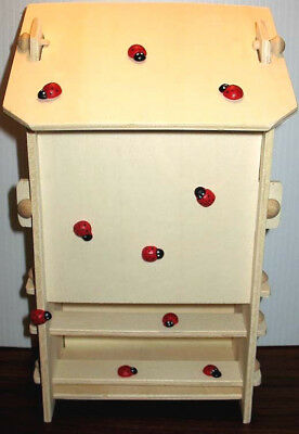DIY WOOD ASSEMBLY KIT Lady Bug House Fun Easy Project KIDS & ADULTS