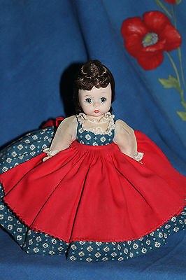 "Vintage Madame Alexander Little Women ""Jo"" doll, bent knee, c.60's-70's, 8"""