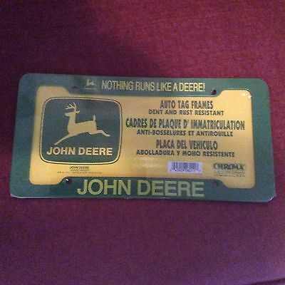 John Deere, Nothing Runs Like A Deere License Plate Cover(Plastic)