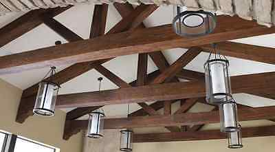 Home Decor 11 ft Light Weight Walnut Rustic Aged Timber Realistic Faux Wood Beam