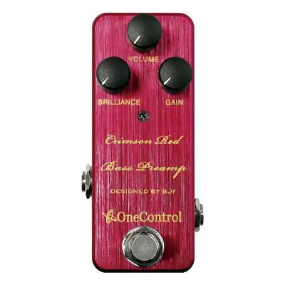 NEW! One Control Crimson Red Bass Preamp - Designed By BJF