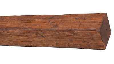 Home Decor Light Weight 11 ft Walnut Rustic Aged Timber Realistic Faux Wood Beam