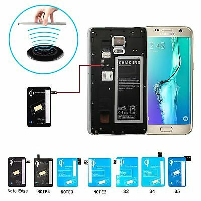 Samsung Galaxy S3/4/5 Note2/3/4/Edge Qi Wireless Charging Charger Receiver Card