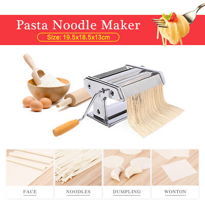 New Thickness Settings Pasta Noodle Maker Machine Cutter For Fresh Spaghetti