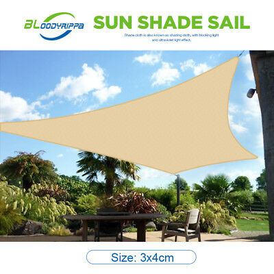 OUTT Large 3x4m Outdoor Sun Shade Sail Canopy HDPE Sand Cloth Rectangle