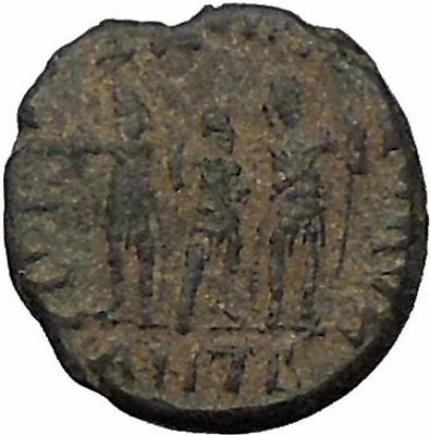 HONORIUS with Theodosius II and ARCADIUS 3 Emperors Ancient Roman Coin i56528