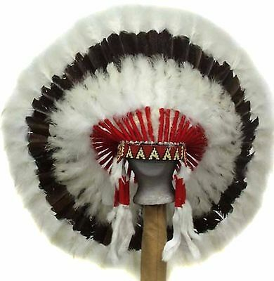 "Genuine Native American Navajo Indian headdress 36 inch ""WESTERN PLAINS"""